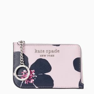 Kate Spade grand flora medium l-zip card holder